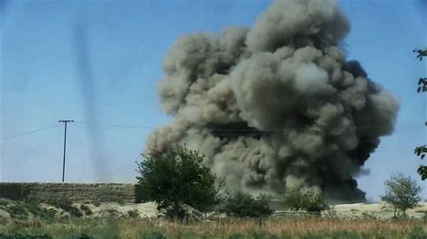 2d CEB using MICLIC's to destroy IED Bazaar in Afghanistan