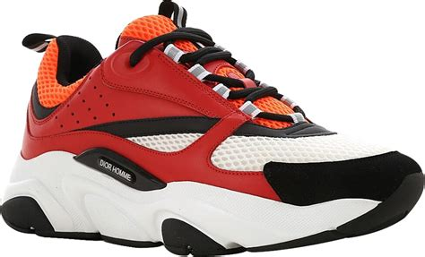 Dior Red & Orange 'B22' Sneakers | Incorporated Style
